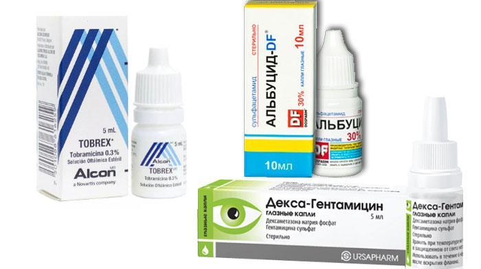 Капли при лечении внутреннего конъюнктивита