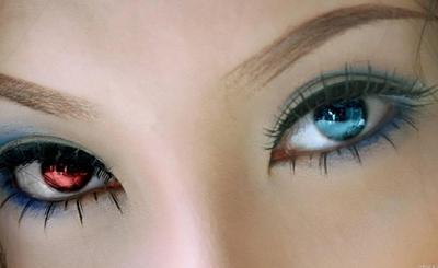 Изменение цвета радужки глаза