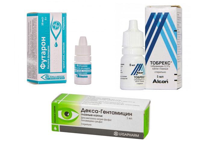 Глазные капли с антибиотиком для глаз