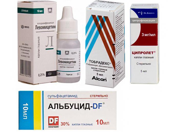 Глазные капли для лечения фурункула на глазу
