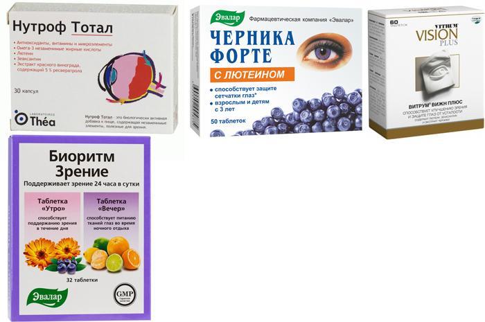 Аналоги витаминов для глаз Лютеин Форте