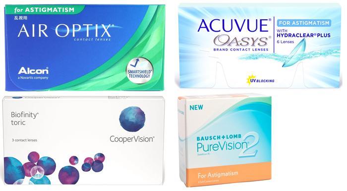 Популярные контактные торические линзы