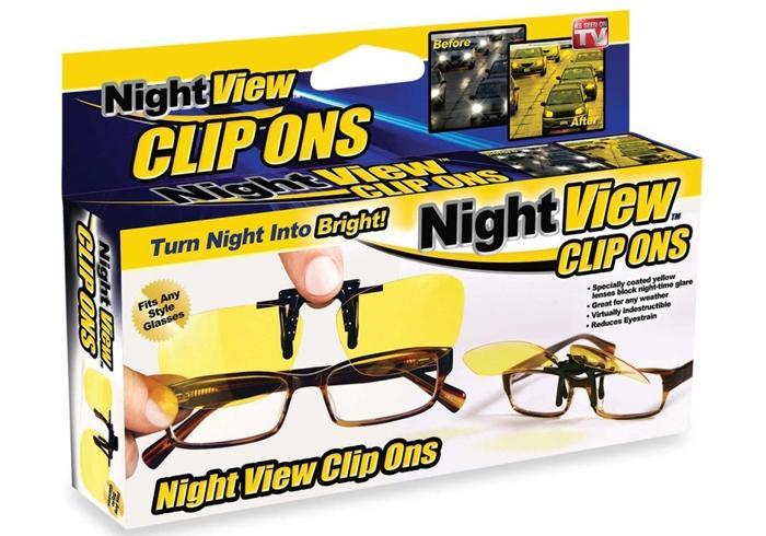 Антибликовые очки Night view clip ons