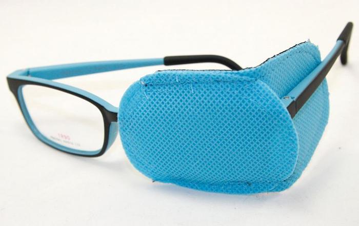 Тканевый окклюдер на очки