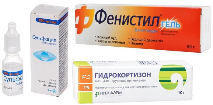 Лекарственные препараты от укуса насекомого в глаз