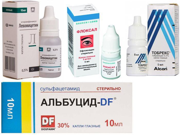 Лекарственное лечение конъюнктивита у грудничков