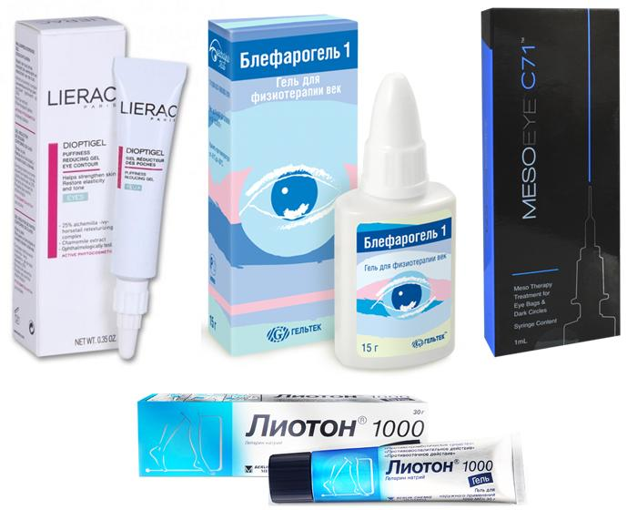 Лекарственные препараты от мешков под глазами