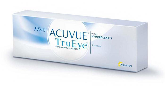контактные линзы 1-Day Acuvue TruEye