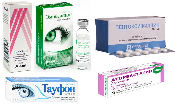 Препараты для лечения отслоения сетчатки глаза