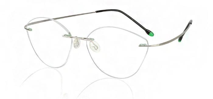 Безоправные очки кошачий глаз