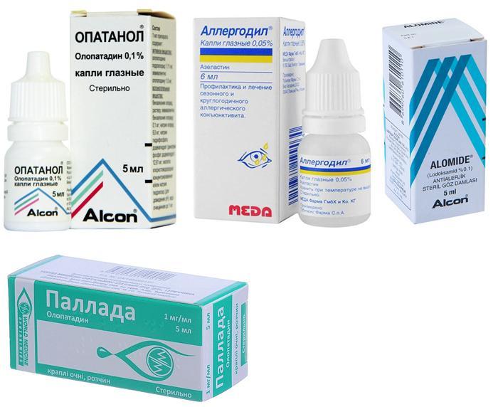 Популярные антигистаминные глазные капли