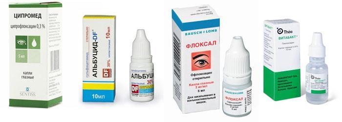 Глазные капли при бактериальном конъюнктивите