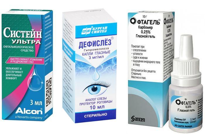 Аналоги глазных капель Искусственная слеза
