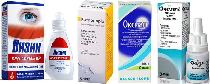 Лекарственные препараты от усталости глаз