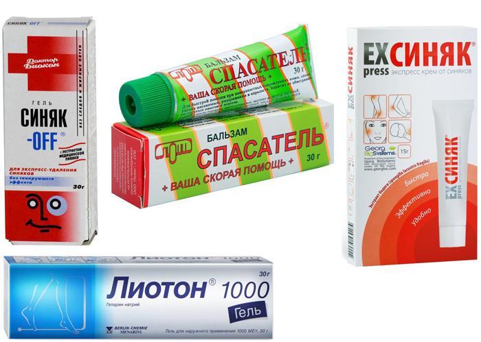 Медикаменты от синяков