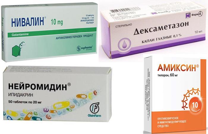 Лекарственные препараты при лечении неврита зрительного нерва
