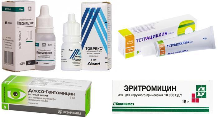 Лекарственные препараты против бактериального конъюнктивита