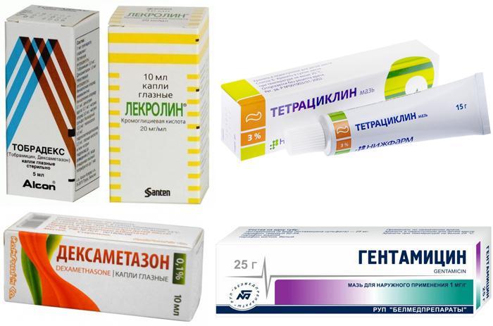 Лекарственные препараты для лечения инфекционных заболеваний глаз