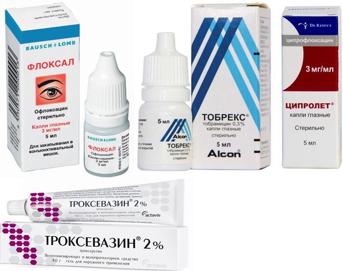Препараты для лечения отека век