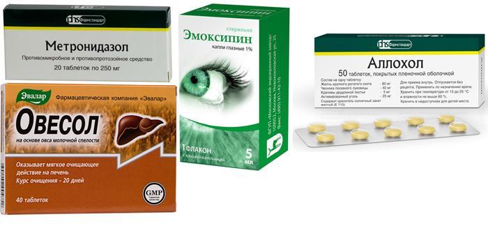 Медикаменты, назначаемые при иктеричности склер