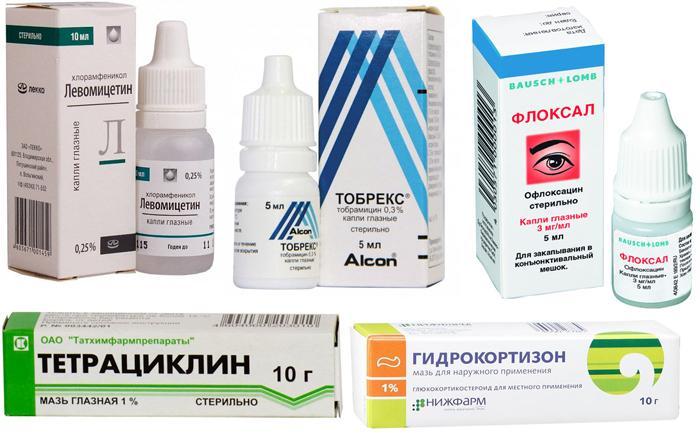 Препараты от ячменя на глазу