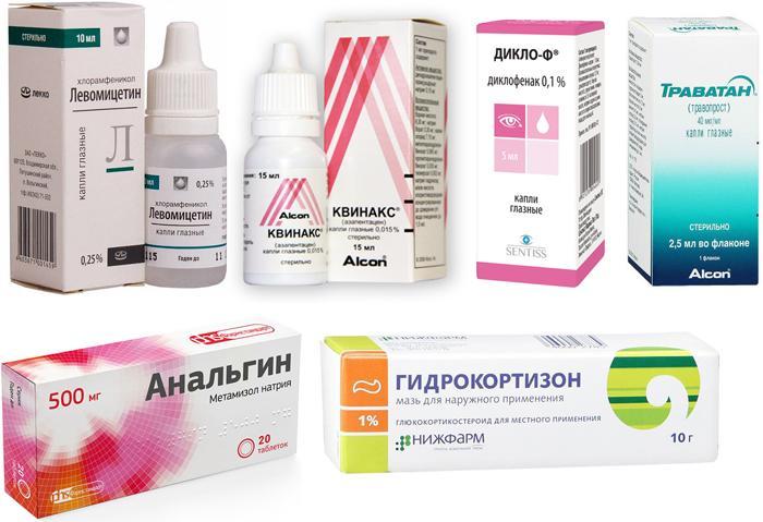 Медикаментозное лечение химического ожога глаз