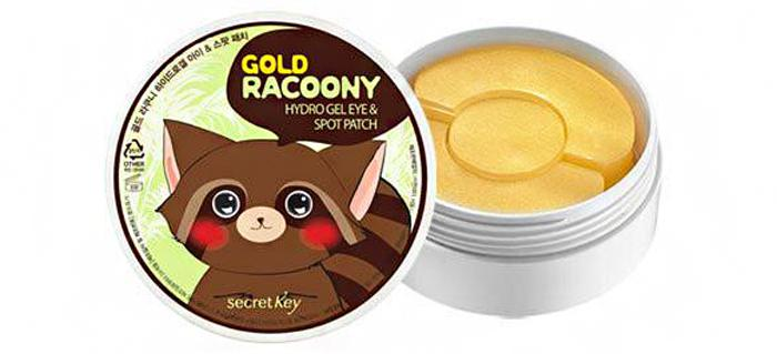 Патчи под глаза Secret Key Gold Racoony Hydro Gel and Spot Patch