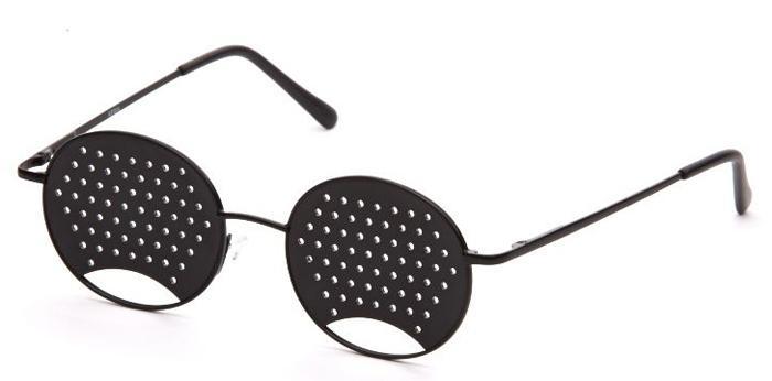 Перфорированные очки-тренажеры для глаз
