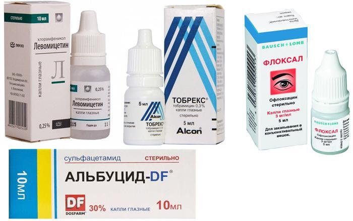 Антибактериальные глазные капли для детей