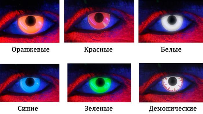 Светящиеся контактные линзы