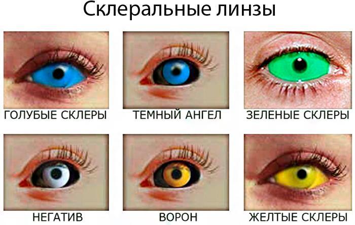 Склеральные карнавальные контактные линзы