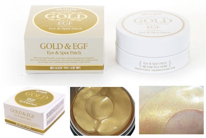 Золотые патчи Petitfee Gold EGF
