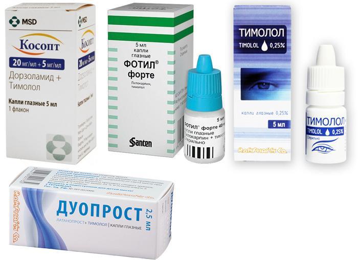 Лекарственные препараты для лечения глаукомы