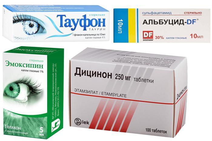 Медикаментозное лечение гемофтальма