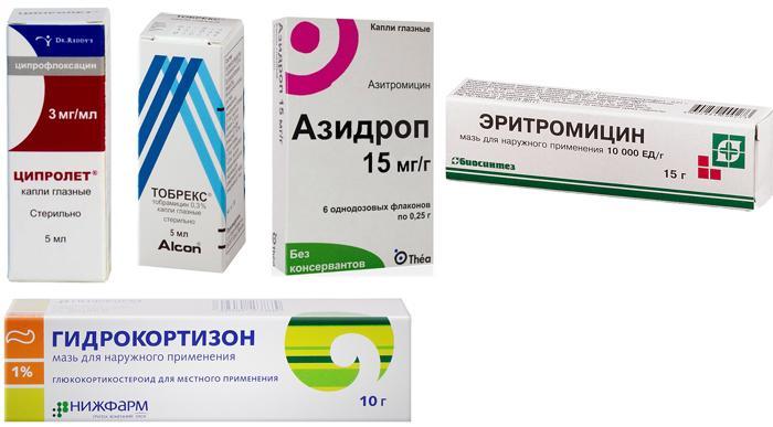 Медикаменты от ячменя на глазу