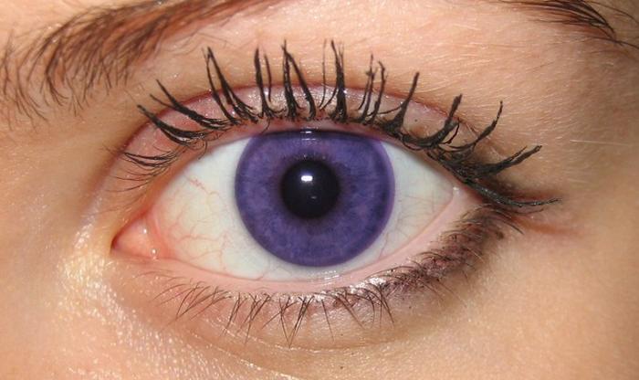 Оттеночные фиолетовые линзы