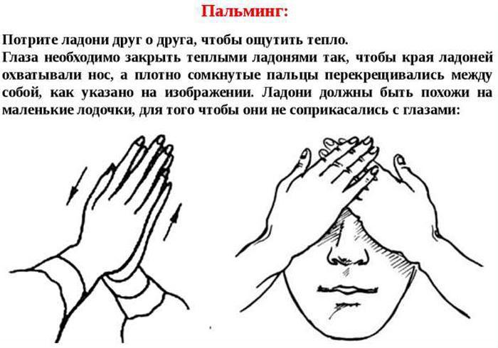 Гимнастика для глаз (пальминг)