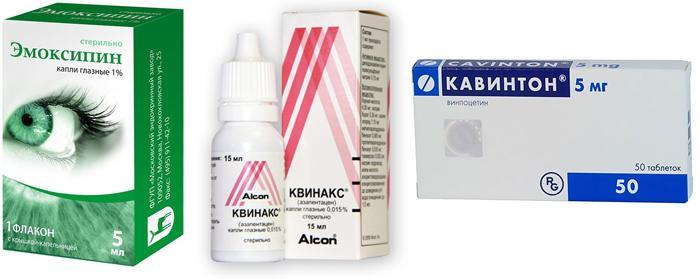 Медикаменты для улучшения микроциркуляции в сосудах глаз