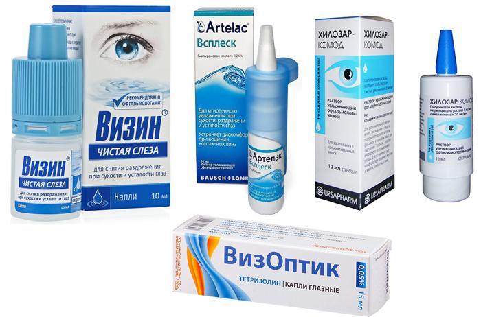 Глазные капли для лечения светобоязни