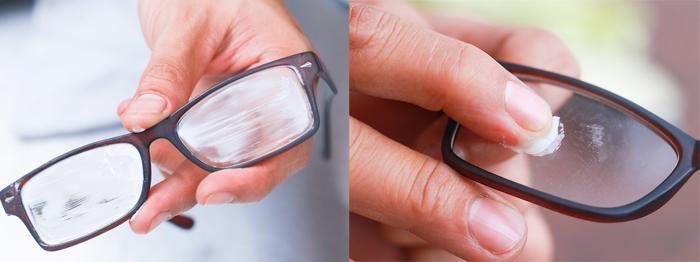 Удаление царапин с пластиковых очков зубной пастой в домашних условиях