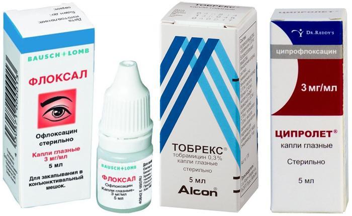 Популярные глазные капли при инфекционно-воспалительных заболеваниях