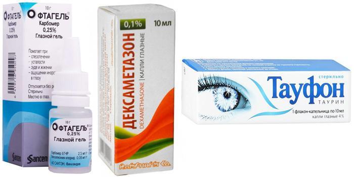 Глазные капли для устранения отёка роговицы