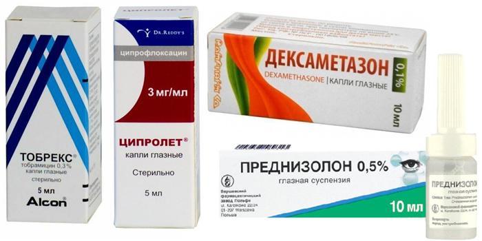 Медикаментозное лечение герпетического конъюнктивита