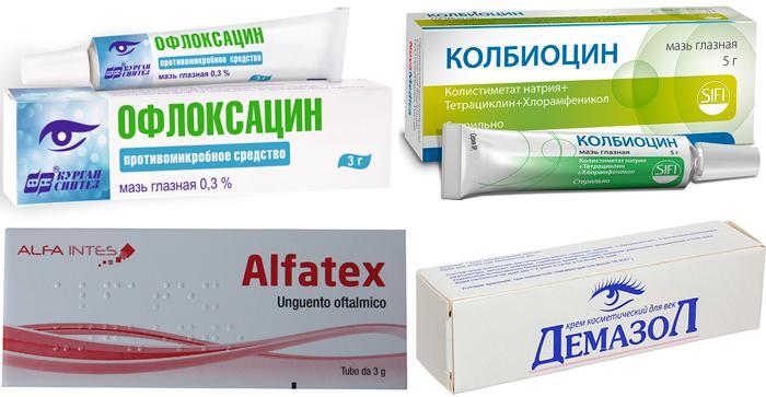 Список лучших антибактериальных глазных мазей