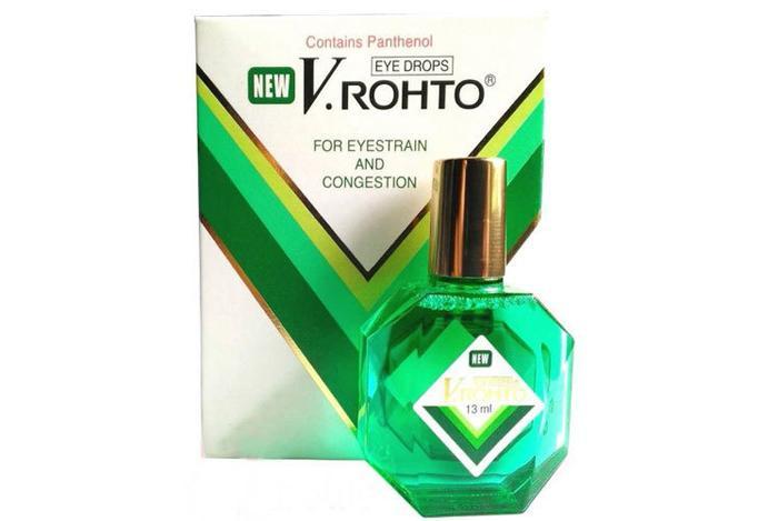 Японские капли для глаз Rohto