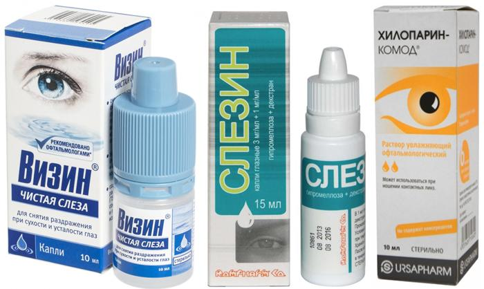 Лекарственные препараты при синдроме сухого глаза
