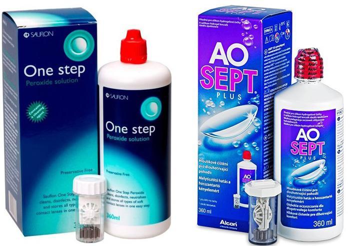 Популярные растворы для дезинфекции контактных линз