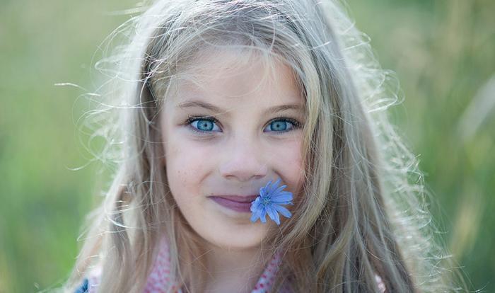 Васильковый цвет глаз