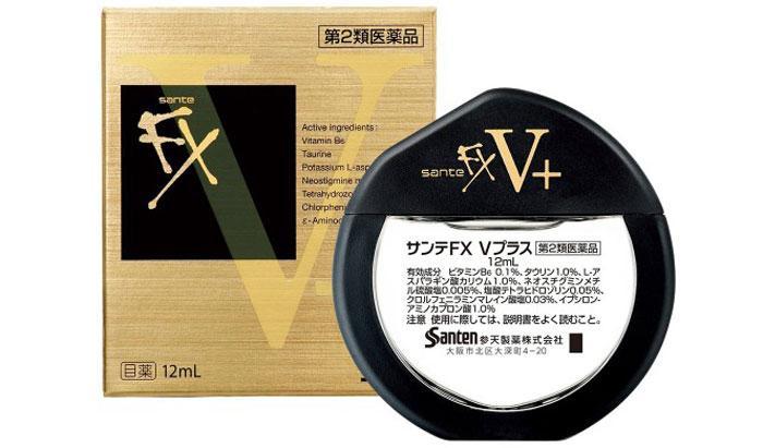 Японские капли для глаз Sante FX V+