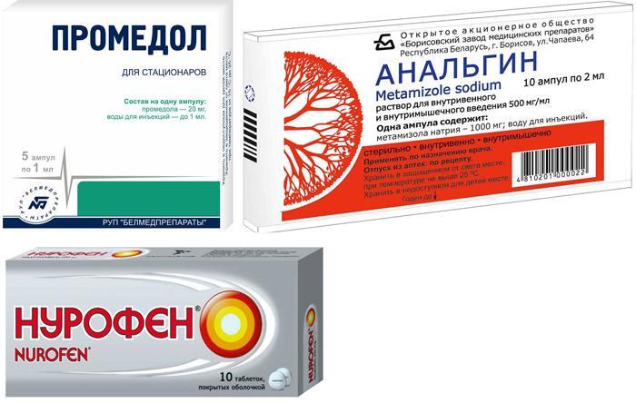 Популярные обезболивающие препараты